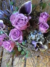 誕生日の花 ローズ、カラー、ミズキ、など