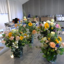 葉っぱの器に初夏の花をいけよう!in アイランドシティ