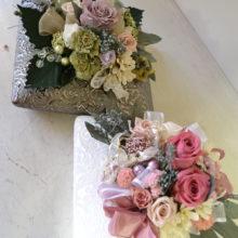 両親への花束にかわりに、プリザーブドフラワー。