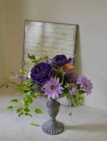 アーティフィシャル、造花、紫系