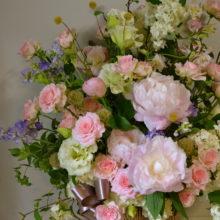 ケアハウスへお祝いのお花