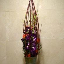 紫とオレンジ:活け込み