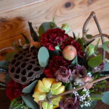 サロンへ贈る秋の花