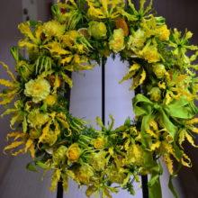 周年お祝いに贈る黄色いリース