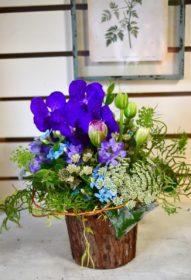 青い,ブルー,お花,アレンジメント