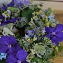 ブルーの花:リースレッスン