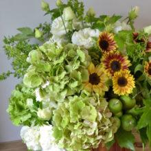 ひまわりで贈るお祝いのお花