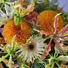 菊とガーベラの花束