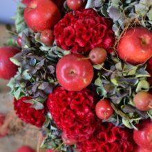 リンゴのアレンジメント