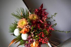 正月の花束