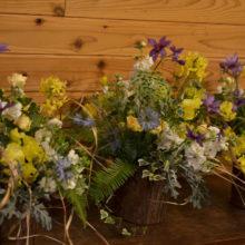 春の野の花アレンジメントレッスン