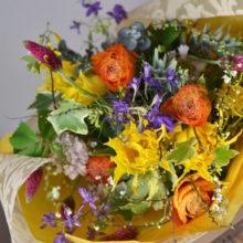 米寿を祝う黄色の花束